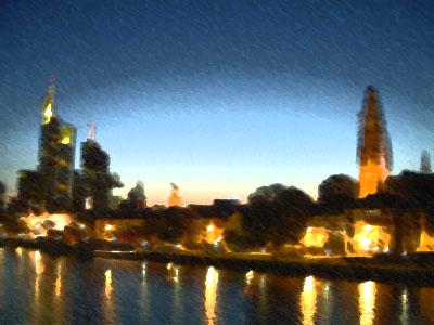 フランクフルト夜景