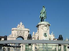 改革王・ドン・ジョゼ1世の像