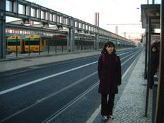 カイス・ド・ソドレ駅前の市電乗り場