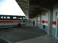 エヴォラのバスターミナル