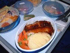 BA機内食