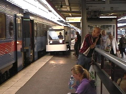 ストックホルム中央駅の一風景